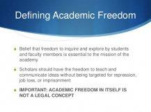 Defining Academic Freedom S
