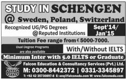 Admissions Open 2014-15 in