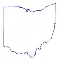 Outline Map Of Ohio | State of