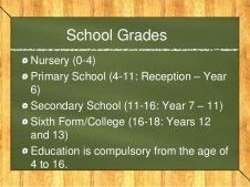 School GradesNursery