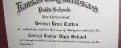 Junior high school diploma
