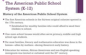 School system in USA