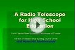A Radio Telescope for High School Education