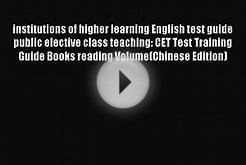 Download institutions of higher learning English test