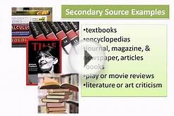 Examples of Primary and Secondary Sources of Information