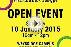 Full-time, Part-time & Degree Level Open Day - Saturday