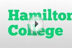 Hamilton College meaning and pronunciation