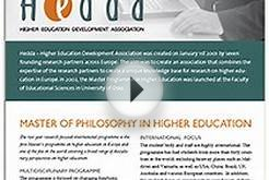 Hedda Master Programme in Higher Education: European