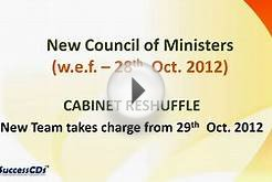 List of Council of Ministers - Update your GK (who is who