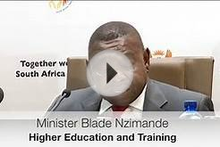 Minister Blade Nzimande briefs media on Post School