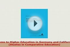 PDF Access to Higher Education in Germany and California