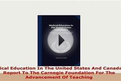 PDF Medical Education In The United States And Canada A