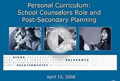 Personal Curriculum: School Counselors Role and Post