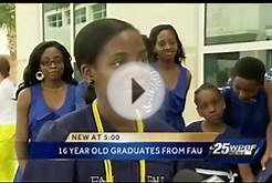 Teen earns College Degree before finishing high school WOW!