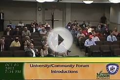 University and Community Forum - October 3, 2012