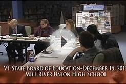 Vermont State Board of Education Meeting: December 15, 2015